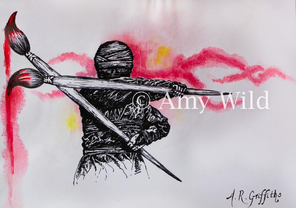Ninja painting