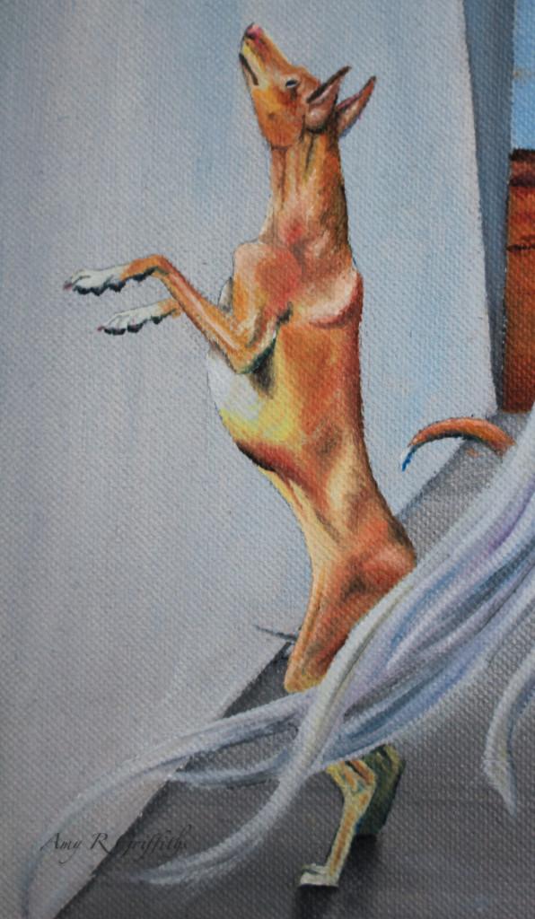 Dog dingo painting