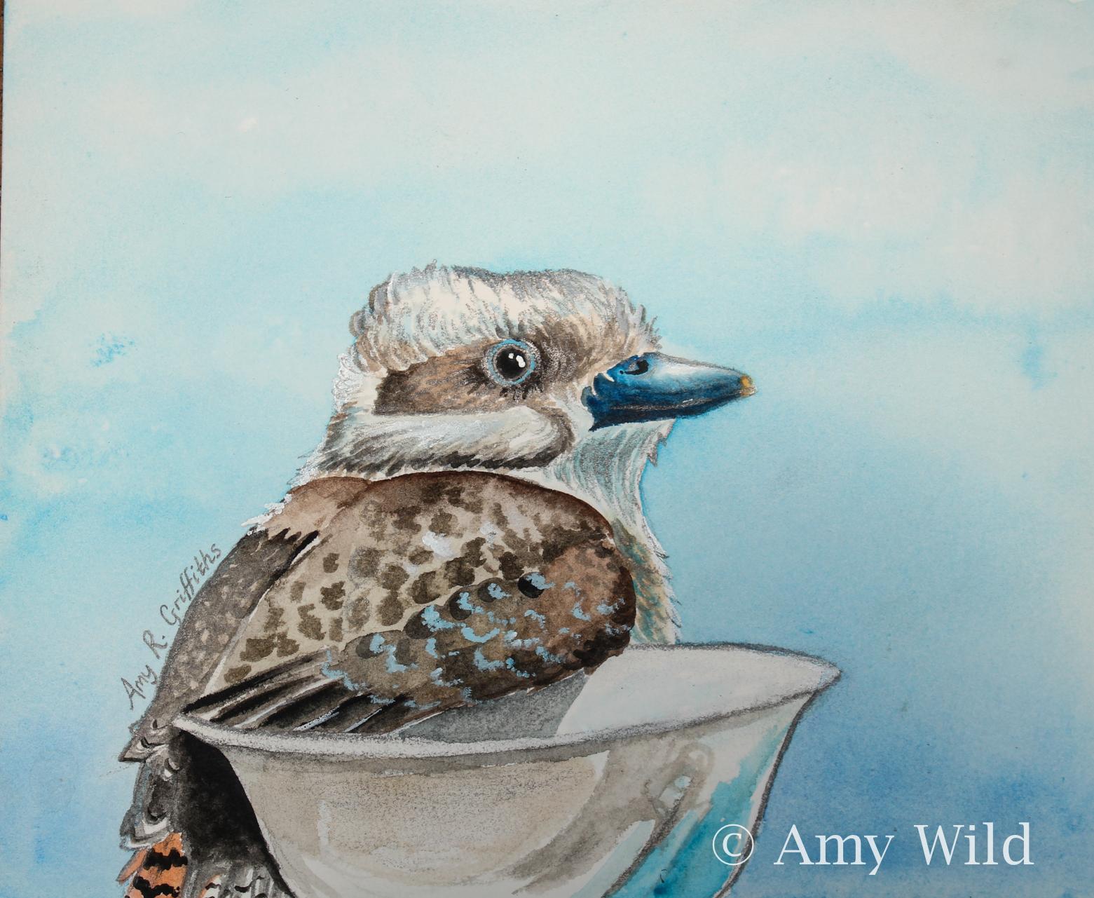 Bird art, watercolour